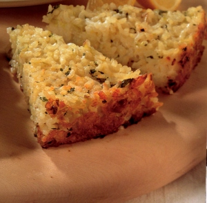 Lemon and Herb Risotto cake