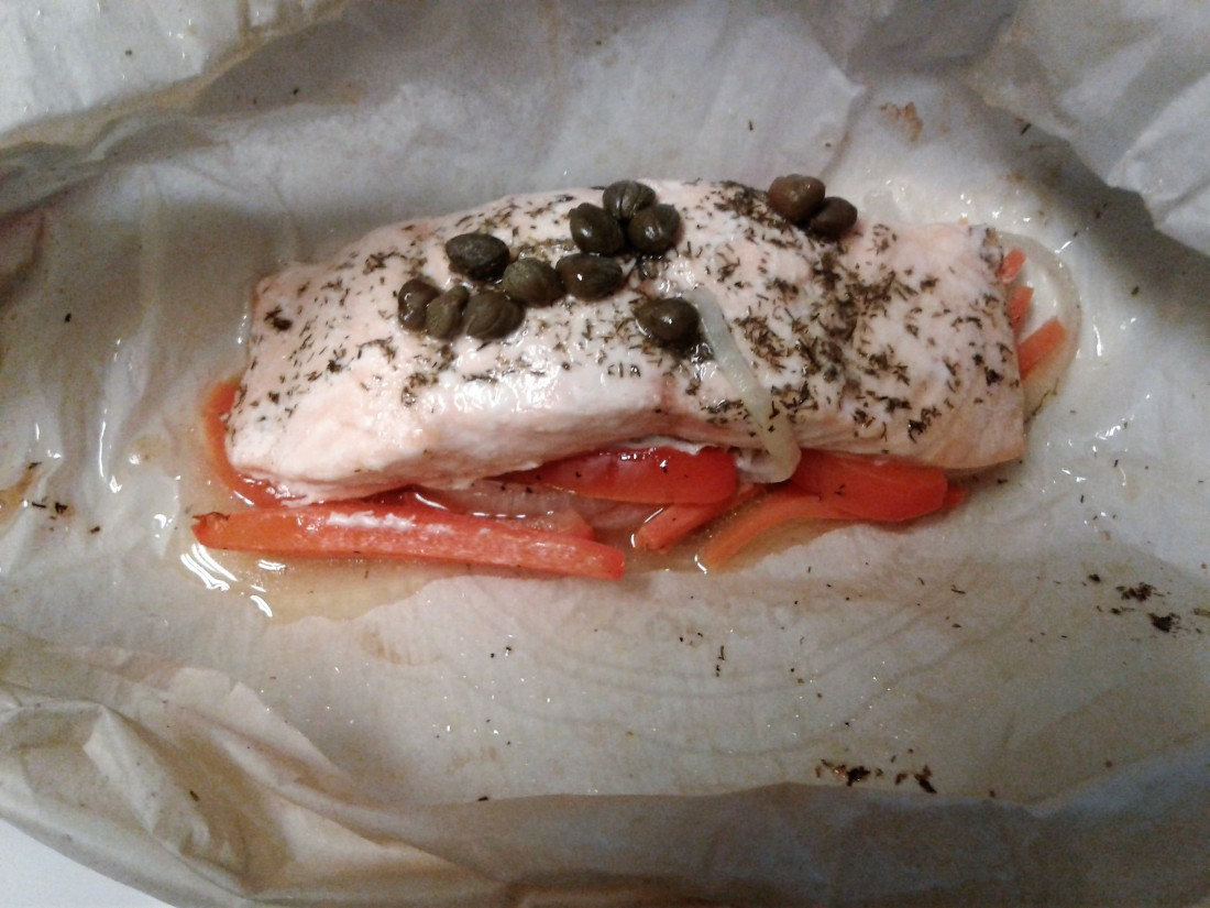 Salmon En Papiotte