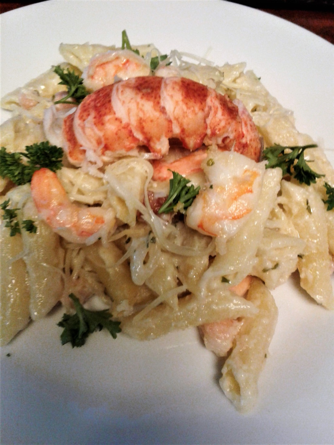 Shrimp Alfredo Bake