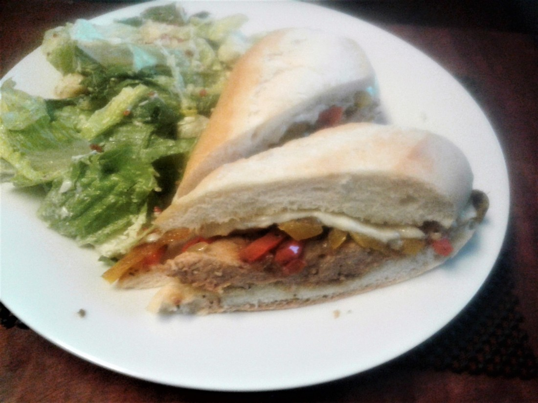 Sausage and Pepper Sandwich