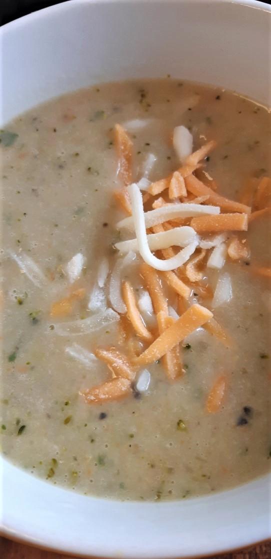 Cheddar Veffie soup II